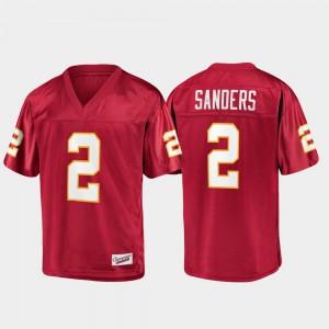 Champions Collection #2 Deion Sanders FSU Jersey Men Garnet