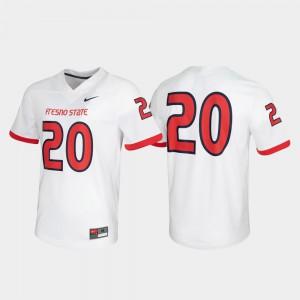 Untouchable Game #20 Mens White Fresno State Jersey