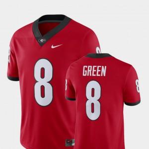 Men Player Red A.J. Green UGA Jersey Alumni Football Game #8