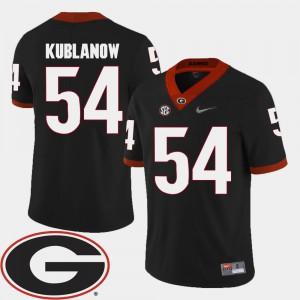Black 2018 SEC Patch College Football Brandon Kublanow UGA Jersey For Men's #54