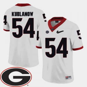 College Football 2018 SEC Patch White For Men's Brandon Kublanow UGA Jersey #54
