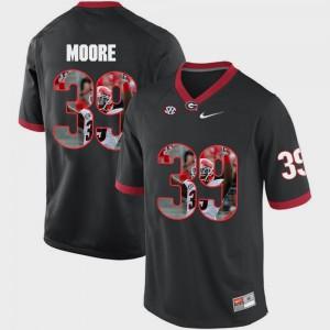 Men Corey Moore UGA Jersey Black Pictorial Fashion #39