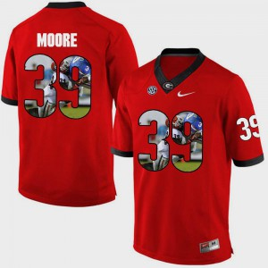 #39 Red Corey Moore UGA Jersey For Men's Pictorial Fashion