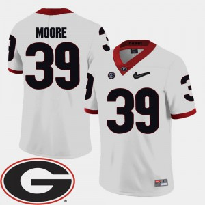 #39 2018 SEC Patch Corey Moore UGA Jersey College Football For Men White