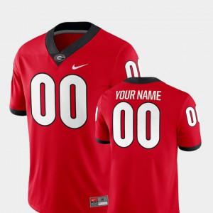 #00 Men's College Football UGA Custom Jerseys 2018 Game Red