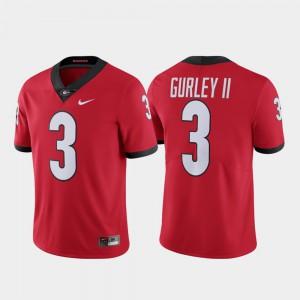 Mens Red #3 Limited Alumni Todd Gurley II UGA Jersey