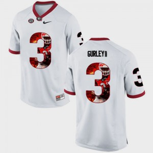 For Men White Todd Gurley II UGA Jersey Pictorial Fashion #3
