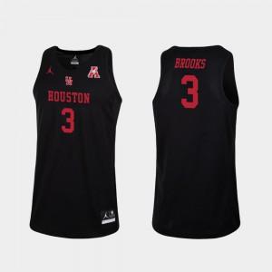 Black #3 For Men Replica Armoni Brooks Houston Jersey College Basketball