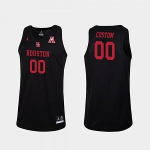 Houston Customized Jersey #00 Replica College Basketball Mens Black