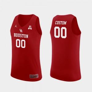 College Basketball Red Men Houston Customized Jerseys Replica #00