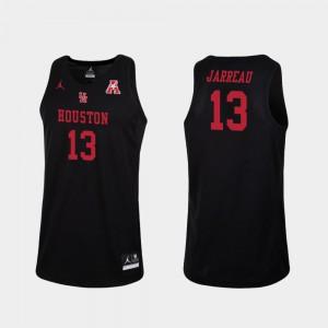 Dejon Jarreau Houston Jersey Men's Replica Black #13 College Basketball