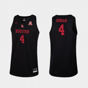 Men's College Basketball Justin Gorham Houston Jersey Black Replica #4