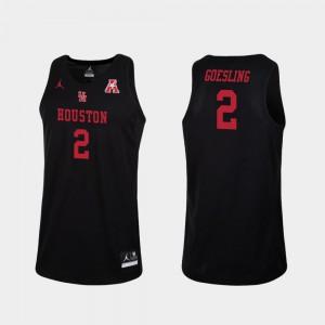 Black Replica #2 Men's College Basketball Landon Goesling Houston Jersey