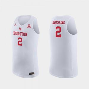 Replica White #2 Men's Landon Goesling Houston Jersey College Basketball
