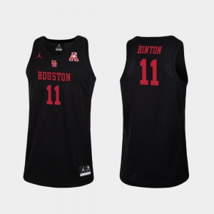 Replica Black College Basketball Nate Hinton Houston Jersey Men's #11
