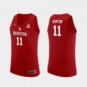 Replica #11 Red Nate Hinton Houston Jersey College Basketball Mens