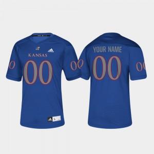 For Men #00 KU Customized Jerseys College Football Royal