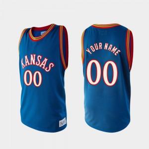 Alumni College Basketball KU Custom Jersey Royal #00 Mens
