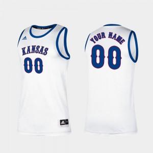 College Basketball Classic White #00 Men's KU Customized Jerseys