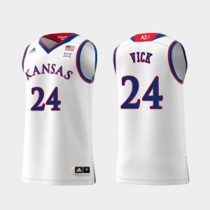Replica #24 White Men's Swingman College Basketball Lagerald Vick KU Jersey