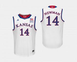 #14 White Men's College Basketball Malik Newman KU Jersey