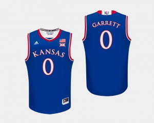 Marcus Garrett KU Jersey #0 For Men College Basketball Royal