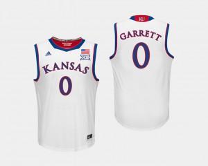#0 White Marcus Garrett KU Jersey Men's College Basketball