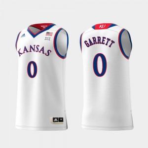 Marcus Garrett KU Jersey For Men's White #0 Swingman College Basketball Replica
