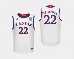 Silvio De Sousa KU Jersey Mens White College Basketball #22