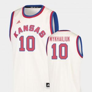 Hardwood Classics Sviatoslav Mykhailiuk KU Jersey #10 College Basketball For Men's Cream