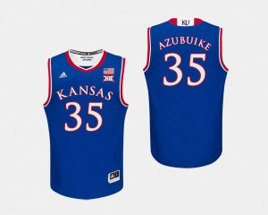College Basketball Udoka Azubuike KU Jersey #35 Men Royal