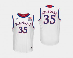 For Men's White Udoka Azubuike KU Jersey College Basketball #35