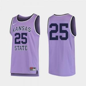Replica #25 Purple Men's KSU Jersey College Basketball