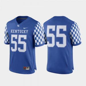 Royal For Men's #55 UK Jersey Game College Football