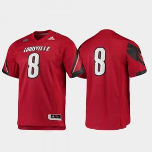 #8 For Men Premier Louisville Jersey Red Football
