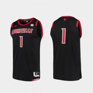 #1 Louisville Jersey Men's Black Basketball Swingman College Replica