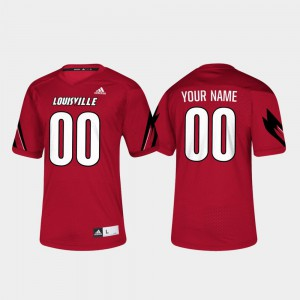 Louisville Custom Jersey College Football Red #00 Men