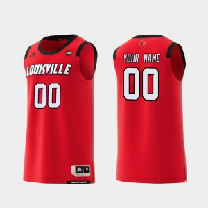 #00 Louisville Customized Jerseys College Basketball Red Mens Replica