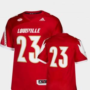 #23 College Football Premier Louisville Jersey Mens Red