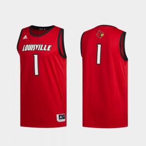 #1 Men Red Basketball Swingman Swingman Basketball Louisville Jersey