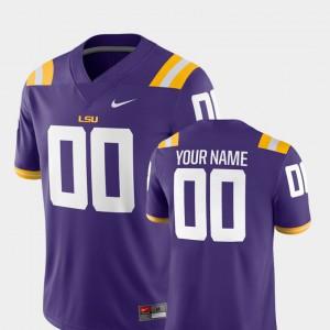 College Football LSU Custom Jerseys #00 Purple 2018 Game Men's