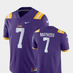 College Football For Men Game #7 Tyrann Mathieu LSU Jersey Purple