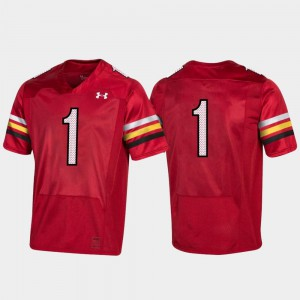 Red #1 Maryland Jersey 150th Anniversary College Football Replica Men's