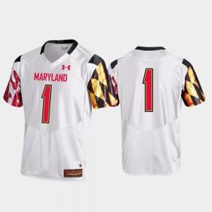Premier Maryland Jersey Football White #1 Men's