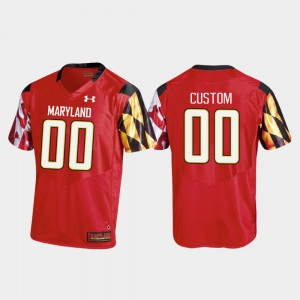 Men's College Football #00 Maryland Customized Jerseys Red Replica