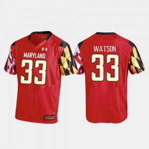 Tre Watson Maryland Jersey Red #33 Replica Mens College Football