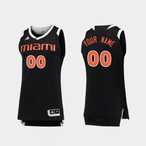 College Basketball Miami Customized Jerseys Black White Chase #00 Mens