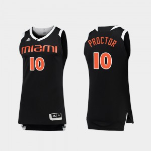 Dominic Proctor Miami Jersey Mens Black White #10 College Basketball Chase