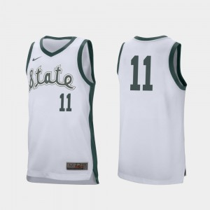 White College Basketball For Men's Retro Performance Aaron Henry MSU Jersey #11