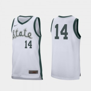 #14 White Brock Washington MSU Jersey For Men Retro Performance College Basketball